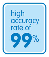 High Accuracy Rate Of 99%